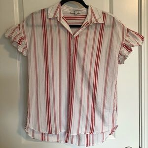 Madewell Button Up with Ruffle Sleeves